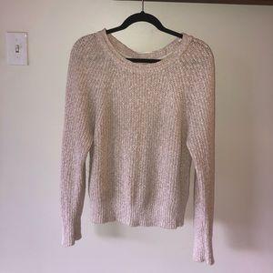 Free people light pink knit sweater